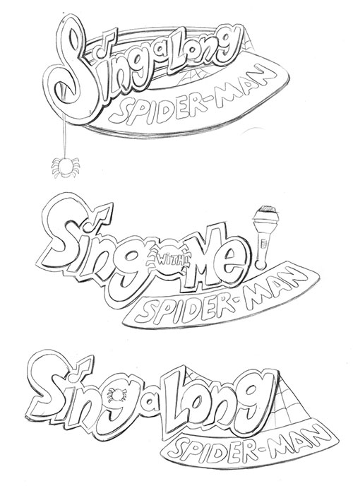 Sing-a-Long-Spider-Man-Sketches