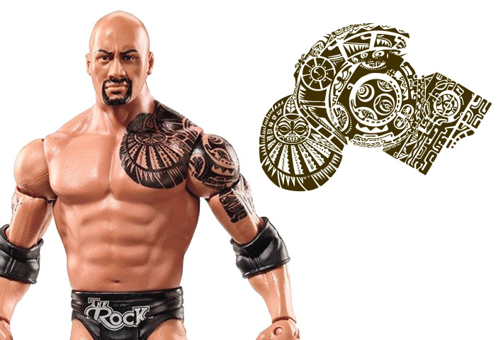 the rock wrestler tattoo images galleries with a bite. Black Bedroom Furniture Sets. Home Design Ideas
